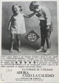1964 Publicidad Nylon de España 11,5x16 cm