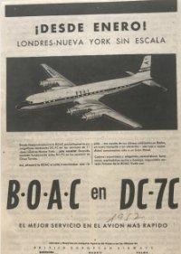 1957 Boac en DC-7C