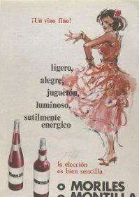 1966 Publicidad vino fino Moriles Montilla 12x17,5 cm