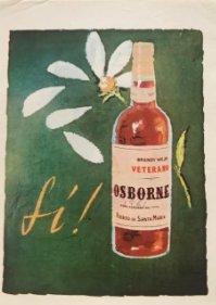 1961 Publicidad Brandy viejo Veterano Osborne 12,9x18,6 cm