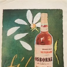 Catálogos publicitarios: 1961 PUBLICIDAD BRANDY VIEJO VETERANO OSBORNE 12,9X18,6 CM. Lote 151951586