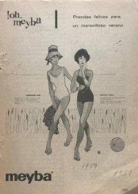 1959 Publicidad Meyba 13,4x18,6 cm