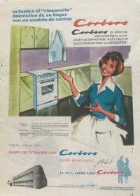 1961 Publicidad Corberó 13,5x18,7 cm