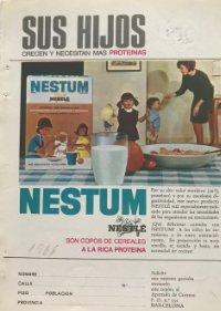 1966 Publicidad Nestlé 13,5x18,7 cm