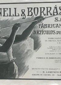1915 Publicidad Planell&Borrás 22,6x16,6 cm