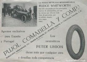 1915 Publicidad Pujol Comabella y Compañía 23,4x17,1 cm