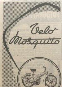 1957 Publicidad motocicleta Velo Mosquito 6x16,8 cm