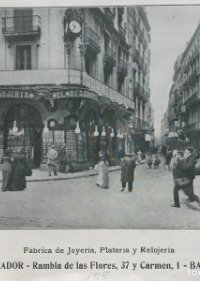 1915 Publicidad El Regulador. Rambla de las Flores 18,2x15,4 cm