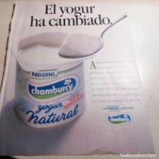 Catálogos publicitarios: CHAMBURCY.PUBLICIDAD NESTLÉ.PUBLICIDAD YOGUR.1989.. Lote 152530234