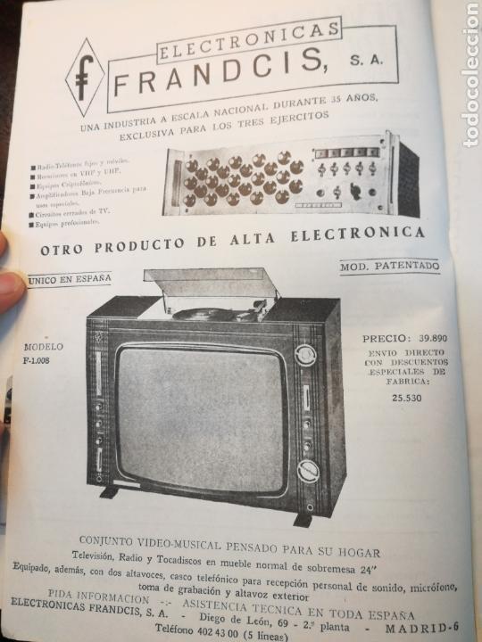 ELECTRONICAS FRANDCIS SA 1970s PUBLICIDAD RECORTE DE PRENSA // TELEVISION  HI FI RADIO VINTAGE RETRO