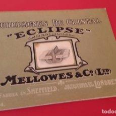 Catálogos publicitarios: ECLIPSE - CUBRICIONES DE CRISTAL - 1914 - JUAN NESPRAL - GIJON - PATENTE DE INVENCIÓN MELOWES & C.º. Lote 152802402