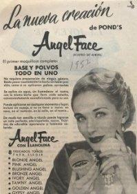 1957 Publicidad Angel Face de Pond's