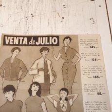 Catálogos publicitarios: VENTA DE JULIO, GALERÍAS PRECIADOS. . Lote 153065978