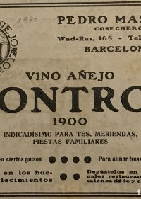 1940 Publicidad Vino añejo Montroy
