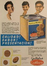 1960 Publicidad Galletas Cuetara