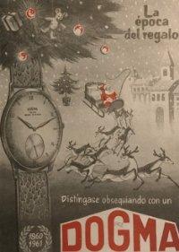 1962 Publicidad Reloj Dogma