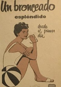 1959 Publicidad Bronceador Skol
