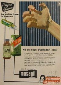 1959 Publicidad Calmante vitaminado Masagil