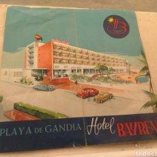 Catálogos publicitarios: CATÁLOGO PUBLICITARIO HOTEL BAYREN - PLAYA DE GANDÍA - VALENCIA AÑO 1959. Lote 153242101