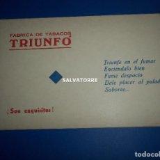 Catálogos publicitarios - CARTONES PUBLICITARIOS TABACOS TRIUNFO.20 CARTONES. - 153318030