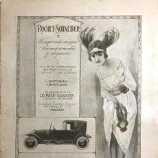 Catálogos publicitarios: PUBLICIDAD COCHES ANTIGUOS ROCHET-SCHNEIDER 27,6X36,4CM. Lote 153558310