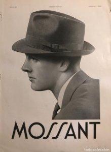1939 Publicidad sombreros Mossant 28,4x38 cm