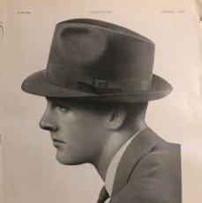 Catálogos publicitarios: 1939 PUBLICIDAD SOMBREROS MOSSANT 28,4X38 CM. Lote 153564678