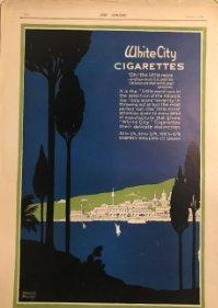 1919 Publicidad cigarrillos White City 27x39,7 cm