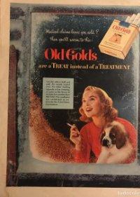 1953 Publicidad cigarrillos Old Golds 26,6x33,6 cm