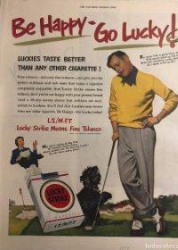 1951 Publicidad cigarrillos Lucky Strike 27x34,8 cm