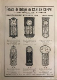 Publicidad relojes 27,4x36,5 cm