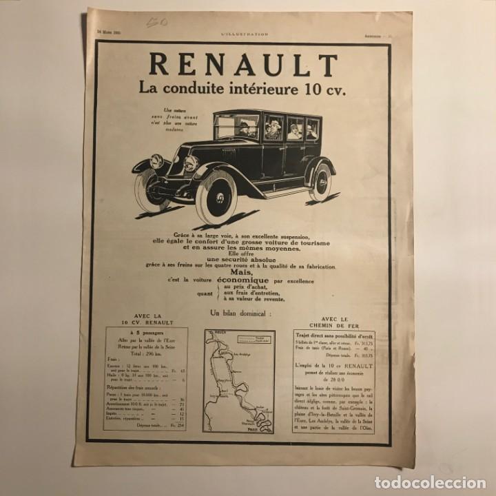 1925 Publicidad Renault 29,3x40,2 cm - 153581950