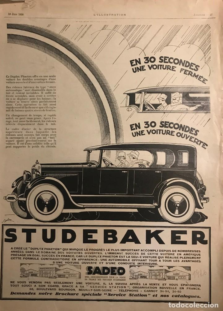 1926 Publicidad automóviles 29x40 cm