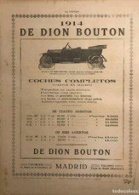 1914 Publicidad automóviles De Dion Bouton