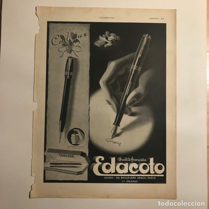 Publicidad estilográficas Edacoto 28,4x38,1 cm - 153583642