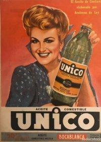 Publicidad aceite Unico 22,8x29,8 cm