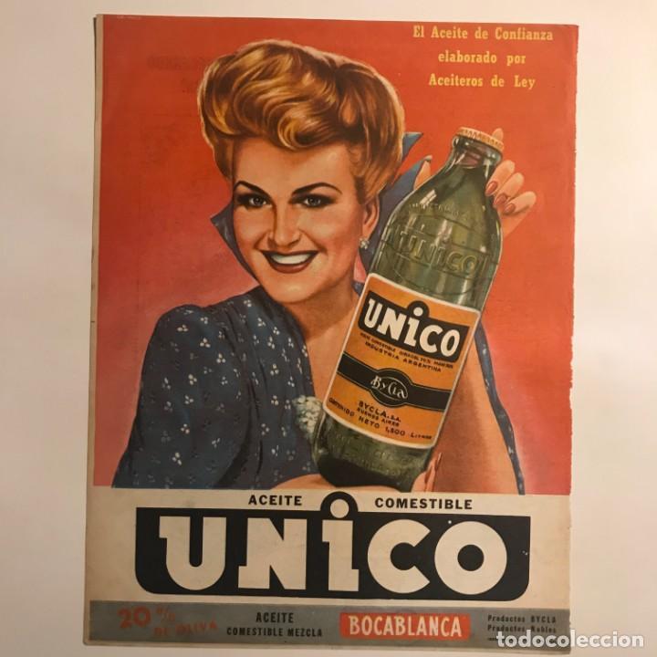 Publicidad aceite Unico 22,8x29,8 cm - 153583994