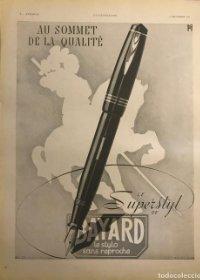 1941 Publicidad estilográficas Bayard 28,3x38 cm