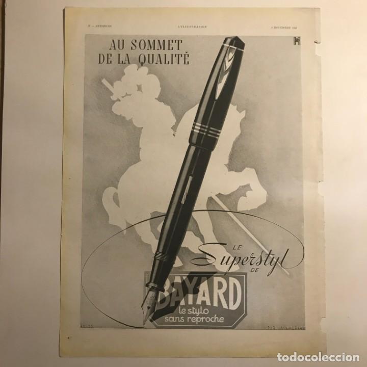 1941 Publicidad estilográficas Bayard 28,3x38 cm - 153584322