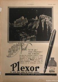1941 Publicidad estilográficas Plexor 28,3x37,9 cm