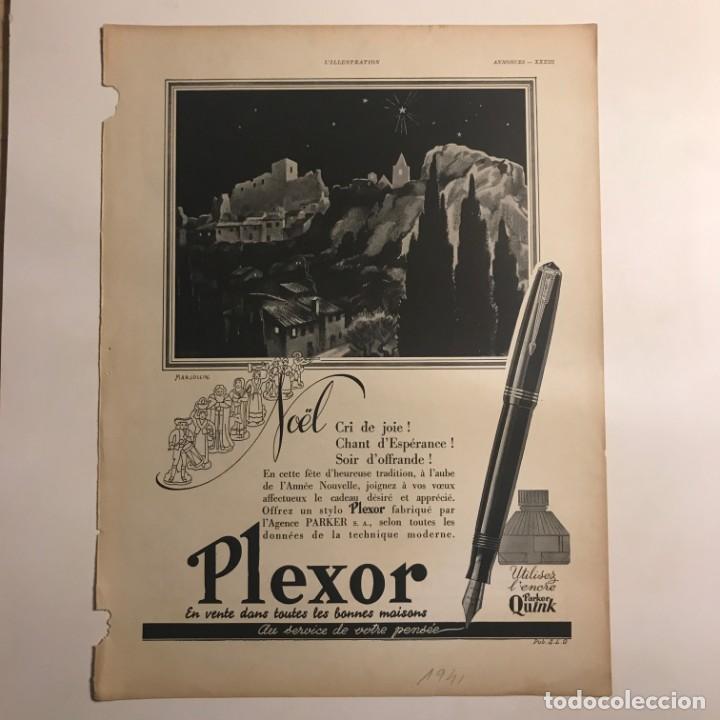 1941 Publicidad estilográficas Plexor 28,3x37,9 cm - 153584698
