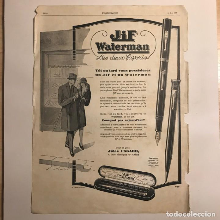 1927 Publicidad estilográficas Waterman 30x40,3 cm - 153585010