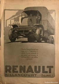 1920 Publicidad automóviles Renault