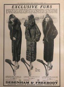 1926 Publicidad moda 27,2x38,6 cm