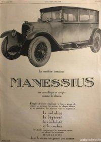 1925 Publicidad automóviles Manessius