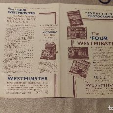 Catálogos publicitarios: HOLA PUBLICIDAD THE FOUR WESTMINSTERS - CAMARAS FOTOGRAFICAS. Lote 153604054