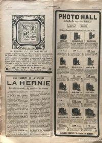 1917 Publicidad cámaras fotográficas antiguas 30,2x40,9 cm