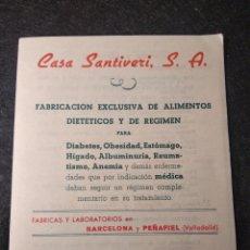Catálogos publicitarios: CATÁLOGO CASA SANTIVERI S.A.. Lote 153847296