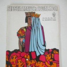 Catálogos publicitarios: PROGRAMA FIESTA MAYOR IGUALADA - NOTICIAS, ANUNCIOS, PROYECTOS, FOTOS - 134 PÁGINAS - AÑO 1968. Lote 153942170