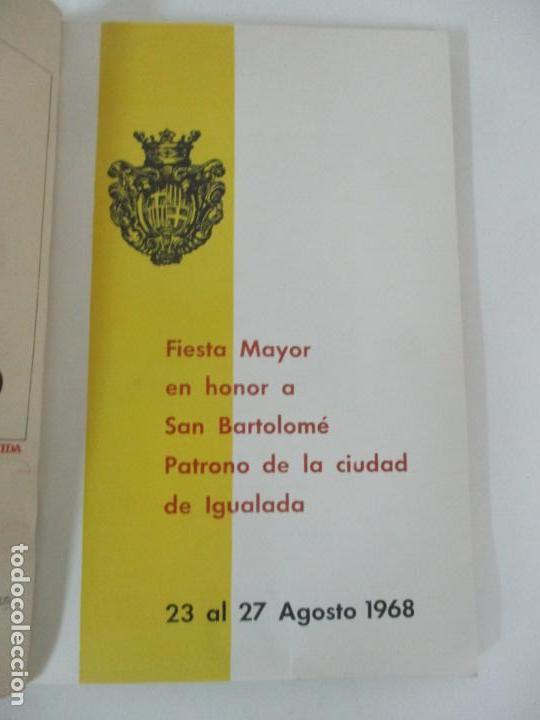 Catálogos publicitarios: Programa Fiesta Mayor Igualada - Noticias, Anuncios, Proyectos, Fotos - 134 Páginas - Año 1968 - Foto 3 - 153942170